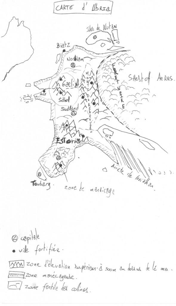 carte du royaume d'ubria