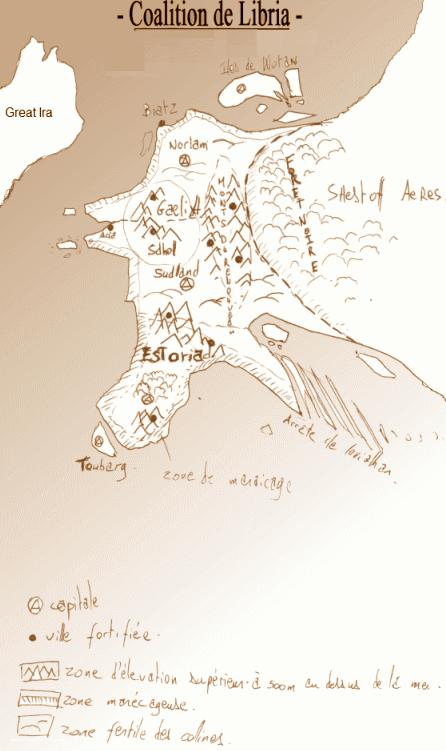 carte de la coalition de libria dans le jeu de rôle altéra néa